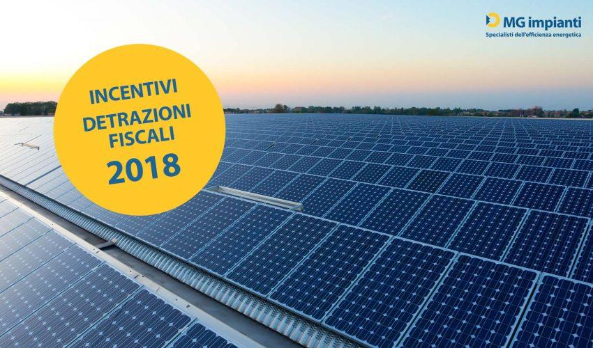 incentivi 2018 fotovoltaico